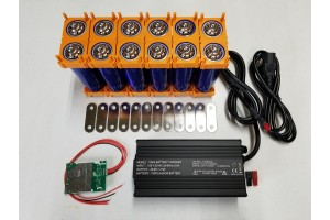 12s 43.8v DIY Battery Kit with BMS and LifePO4 Battery Charger