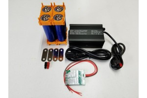 4s 14.6v DIY Battery Kit with BMS and LifePO4 Battery Charger