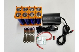 8s 29.2v DIY Battery Kit with BMS and LifePO4 Battery Charger
