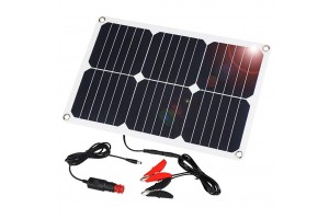 SUAOKI 18V 12V 18W Solar Car Battery Charger Portable Solar Panel