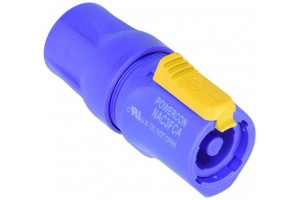 Neutrik NAC3FCA AC PowerCon CBL End-in Blue