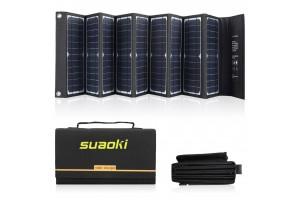 SUAOKI Solar Charger 60W Portable Solar Panel Foldable