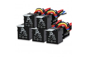 5 Pack - Automotive Relay Set 5-Pin 40A 12V SPDT